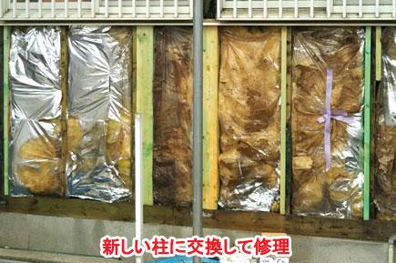 屋根修理·シロアリ改修工事 施工事例