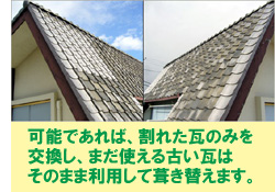 いまある資産(屋根・外壁等)を活用して修理